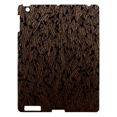 Brown Ombre Feather Pattern, Black, Apple Ipad 3/4 Hardshell Case by Zandiepants
