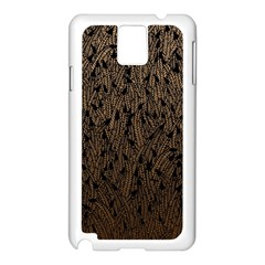 Brown Ombre Feather Pattern, Black, Samsung Galaxy Note 3 N9005 Case (white) by Zandiepants