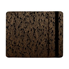 Brown Ombre Feather Pattern, Black, Samsung Galaxy Tab Pro 8 4  Flip Case by Zandiepants