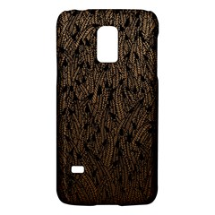 Brown Ombre feather pattern, black, Samsung Galaxy S5 Mini Hardshell Case