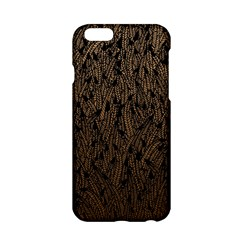 Brown Ombre Feather Pattern, Black, Apple Iphone 6/6s Hardshell Case