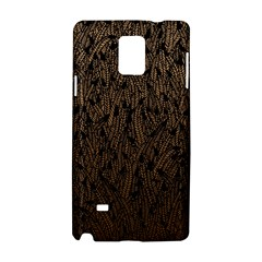 Brown Ombre Feather Pattern, Black, Samsung Galaxy Note 4 Hardshell Case by Zandiepants