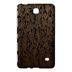 Brown Ombre Feather Pattern, Black, Samsung Galaxy Tab 4 (8 ) Hardshell Case  by Zandiepants