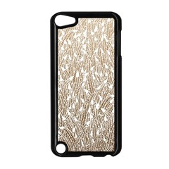 Brown Ombre Feather Pattern, White, Apple Ipod Touch 5 Case (black) by Zandiepants
