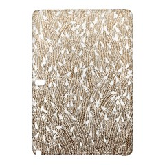 Brown Ombre Feather Pattern, White, Samsung Galaxy Tab Pro 12 2 Hardshell Case by Zandiepants