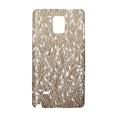 Brown Ombre Feather Pattern, White, Samsung Galaxy Note 4 Hardshell Case by Zandiepants