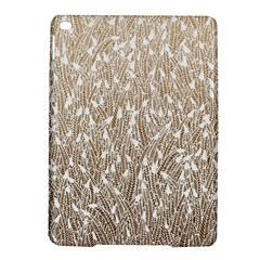 Brown Ombre Feather Pattern, White, Apple Ipad Air 2 Hardshell Case by Zandiepants