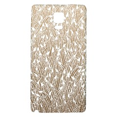 Brown Ombre Feather Pattern, White, Samsung Note 4 Hardshell Back Case by Zandiepants