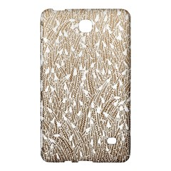 Brown Ombre Feather Pattern, White, Samsung Galaxy Tab 4 (7 ) Hardshell Case  by Zandiepants