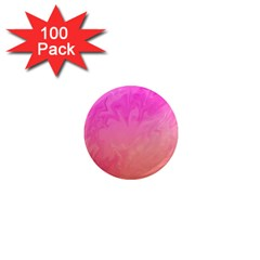 Ombre Pink Orange 1  Mini Magnets (100 Pack)  by BrightVibesDesign