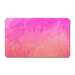 Ombre Pink Orange Magnet (rectangular) by BrightVibesDesign