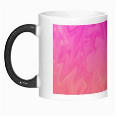Ombre Pink Orange Morph Mugs by BrightVibesDesign
