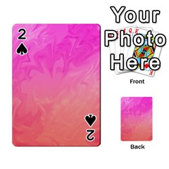 Ombre Pink Orange Playing Cards 54 Designs