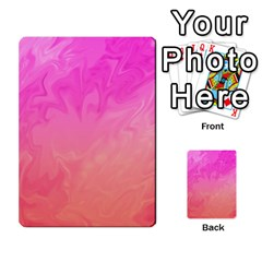 Ombre Pink Orange Multi Purpose Cards (rectangle)
