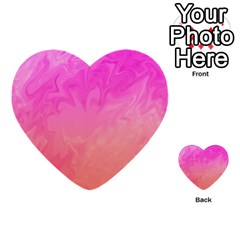 Ombre Pink Orange Multi Purpose Cards (heart)  by BrightVibesDesign