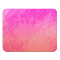 Ombre Pink Orange Double Sided Flano Blanket (large)  by BrightVibesDesign