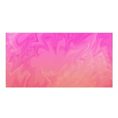 Ombre Pink Orange Satin Shawl by BrightVibesDesign