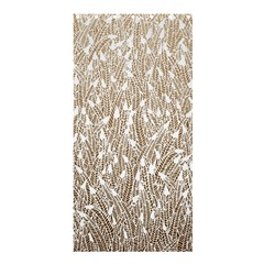 Brown Ombre Feather Pattern, White, Shower Curtain 36  X 72  (stall) by Zandiepants