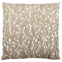 Brown Ombre Feather Pattern, White, Large Cushion Case (two Sides) by Zandiepants
