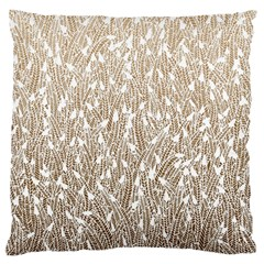 Brown Ombre Feather Pattern, White, Standard Flano Cushion Case (two Sides) by Zandiepants