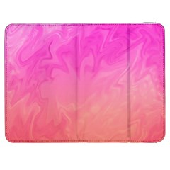 Ombre Pink Orange Samsung Galaxy Tab 7  P1000 Flip Case by BrightVibesDesign
