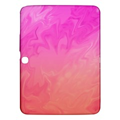 Ombre Pink Orange Samsung Galaxy Tab 3 (10 1 ) P5200 Hardshell Case  by BrightVibesDesign