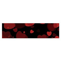Red Hearts Satin Scarf (oblong) by TRENDYcouture