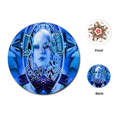 Clockwork Blue Playing Cards (round)  by icarusismartdesigns