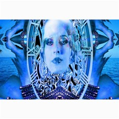 Clockwork Blue Canvas 24  X 36  by icarusismartdesigns