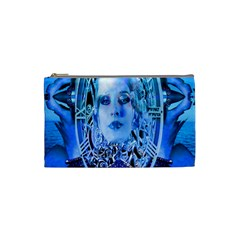 Clockwork Blue Cosmetic Bag (small)  by icarusismartdesigns