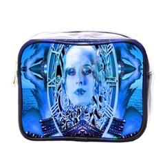 Clockwork Blue Mini Toiletries Bags by icarusismartdesigns