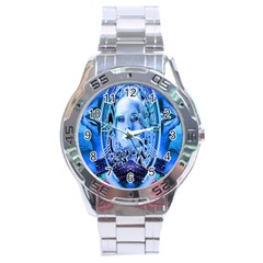 Clockwork Blue Stainless Steel Analogue Watch by icarusismartdesigns
