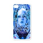 Clockwork Blue Apple iPhone 4 Case (White) Front