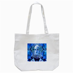 Clockwork Blue Tote Bag (white) by icarusismartdesigns
