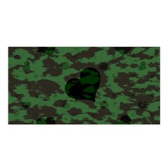 Green Camo Hearts Satin Shawl by TRENDYcouture