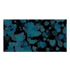 Turquoise Hearts Satin Shawl by TRENDYcouture