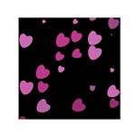 Pink Hearts Small Satin Scarf (Square)