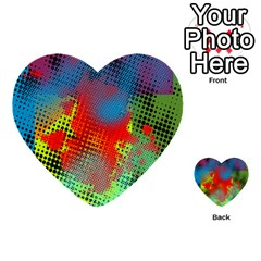 Tiling Lines 5 Multi Purpose Cards (heart)