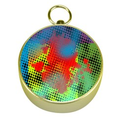 Tiling Lines 5 Gold Compasses by NotJustshirts