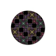 Ornate Boho Patchwork Magnet 3  (round)