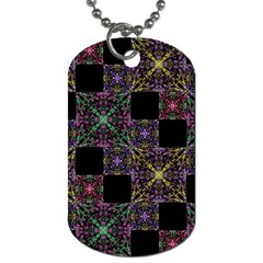 Ornate Boho Patchwork Dog Tag (one Side) by dflcprints