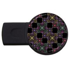 Ornate Boho Patchwork Usb Flash Drive Round (2 Gb)  by dflcprints
