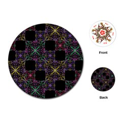Ornate Boho Patchwork Playing Cards (round)  by dflcprints
