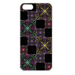 Ornate Boho Patchwork Apple Iphone 5 Seamless Case (white) by dflcprints