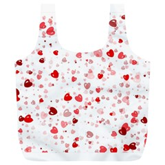 Bubble Hearts Full Print Recycle Bags (l)  by TRENDYcouture