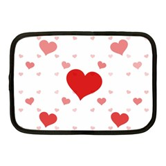 Centered Heart Netbook Case (medium)  by TRENDYcouture