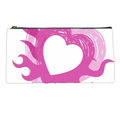 Hot Pink Love Pencil Cases by TRENDYcouture