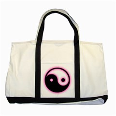 Yin Yang Glow Two Tone Tote Bag by TRENDYcouture