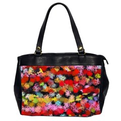 Colorful Brush Strokes                                             Oversize Office Handbag (2 Sides) by LalyLauraFLM