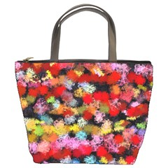 Colorful Brush Strokes                                             	bucket Bag by LalyLauraFLM